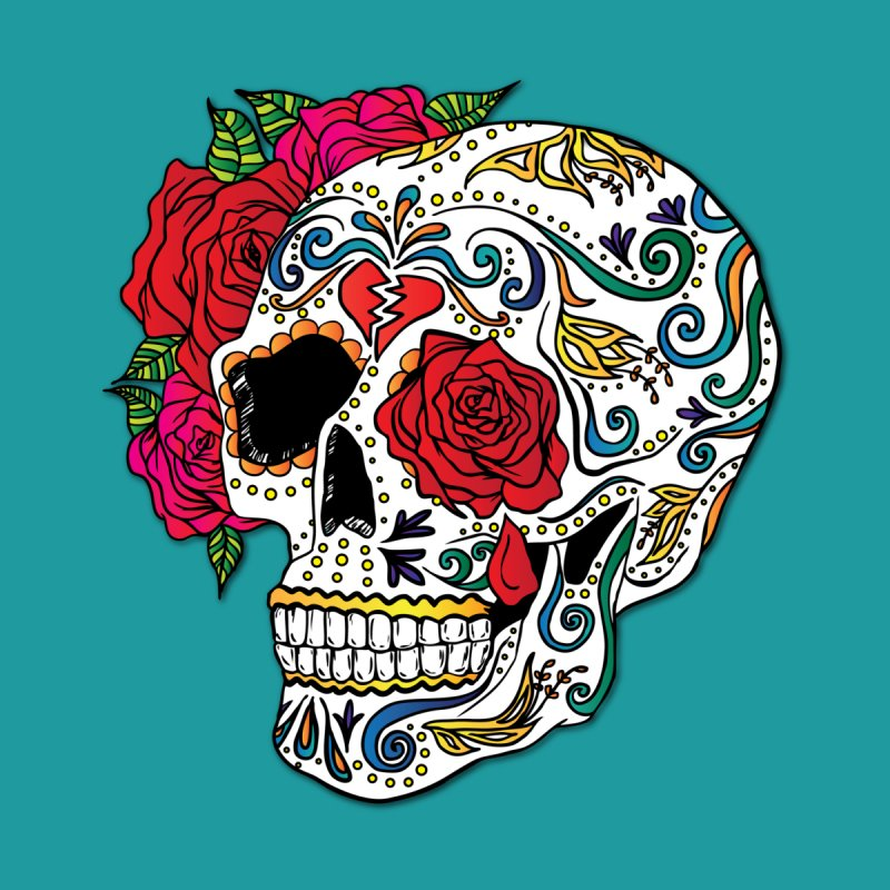 Heartbreak Sugar Skull by Haciendo Designs's Artist Shop