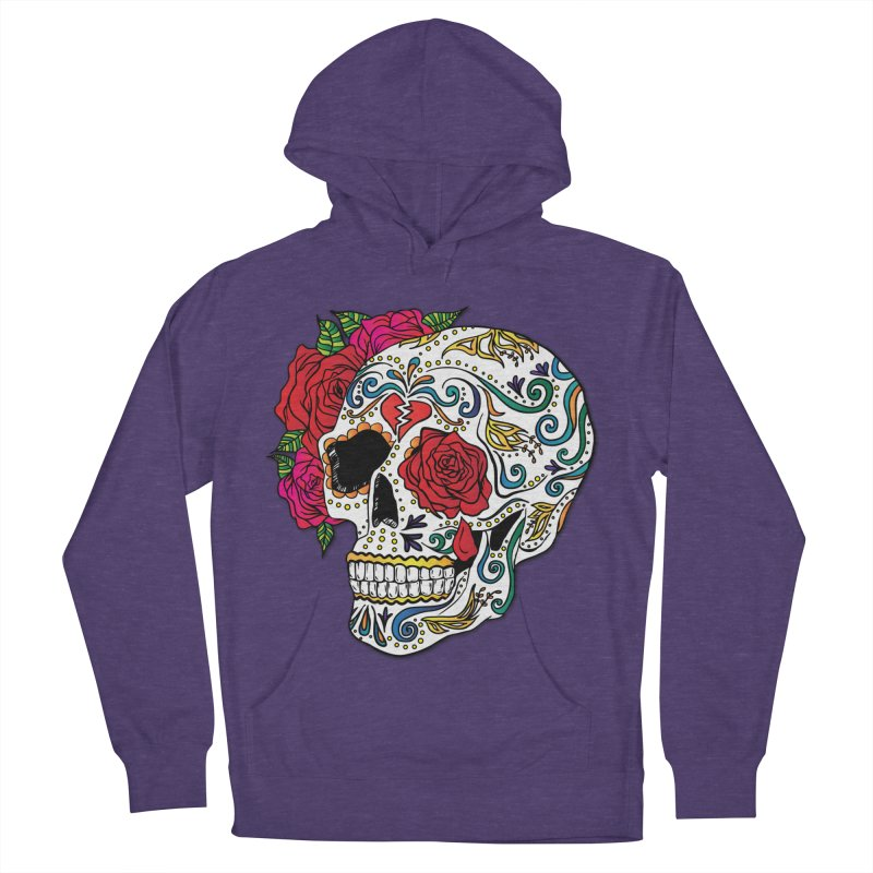 Heartbreak Sugar Skull Women's French Terry Pullover Hoody by Haciendo Designs's Artist Shop