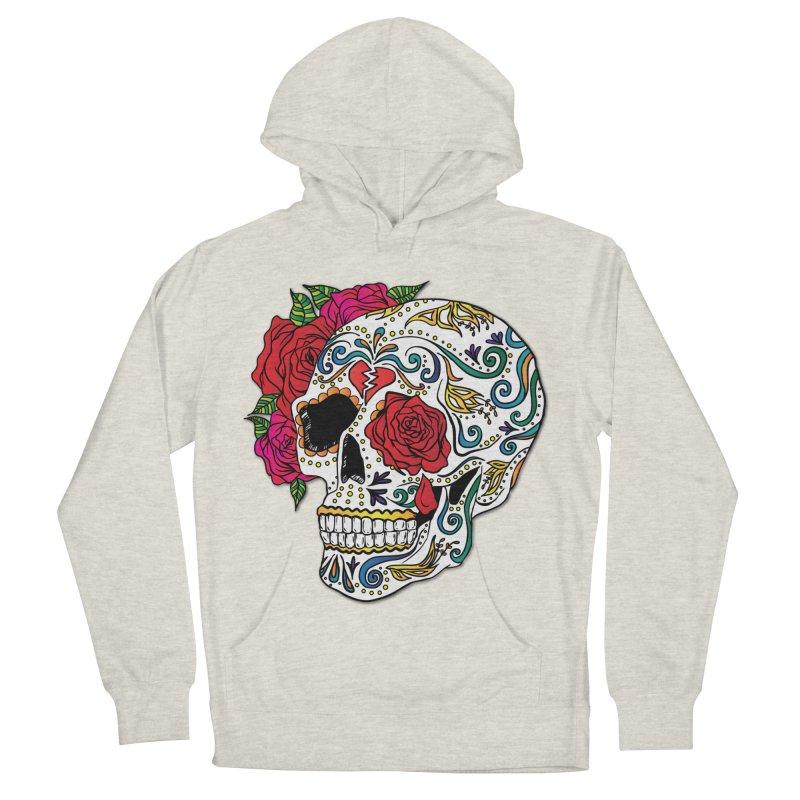 Heartbreak Sugar Skull Women's French Terry Pullover Hoody by Haciendo Designs's Artist Shop