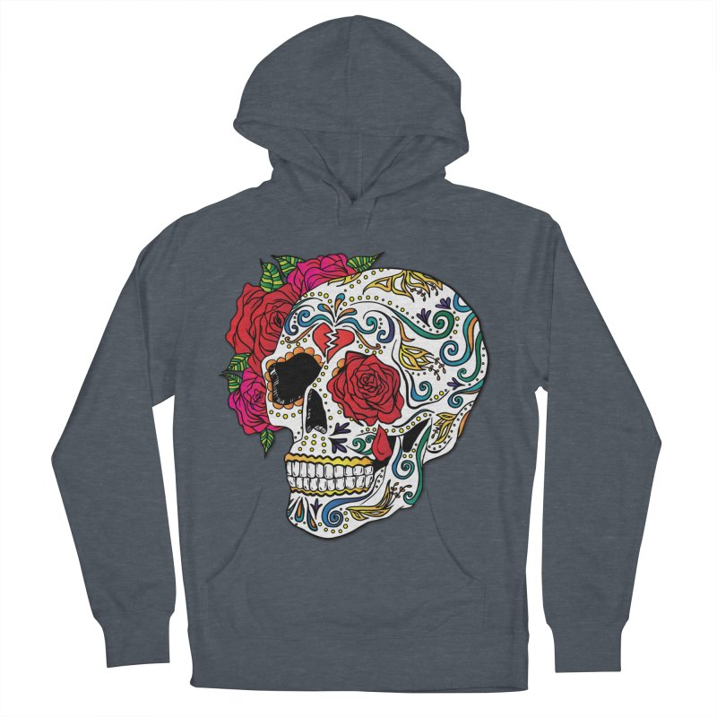 Heartbreak Sugar Skull Men's French Terry Pullover Hoody by Haciendo Designs's Artist Shop