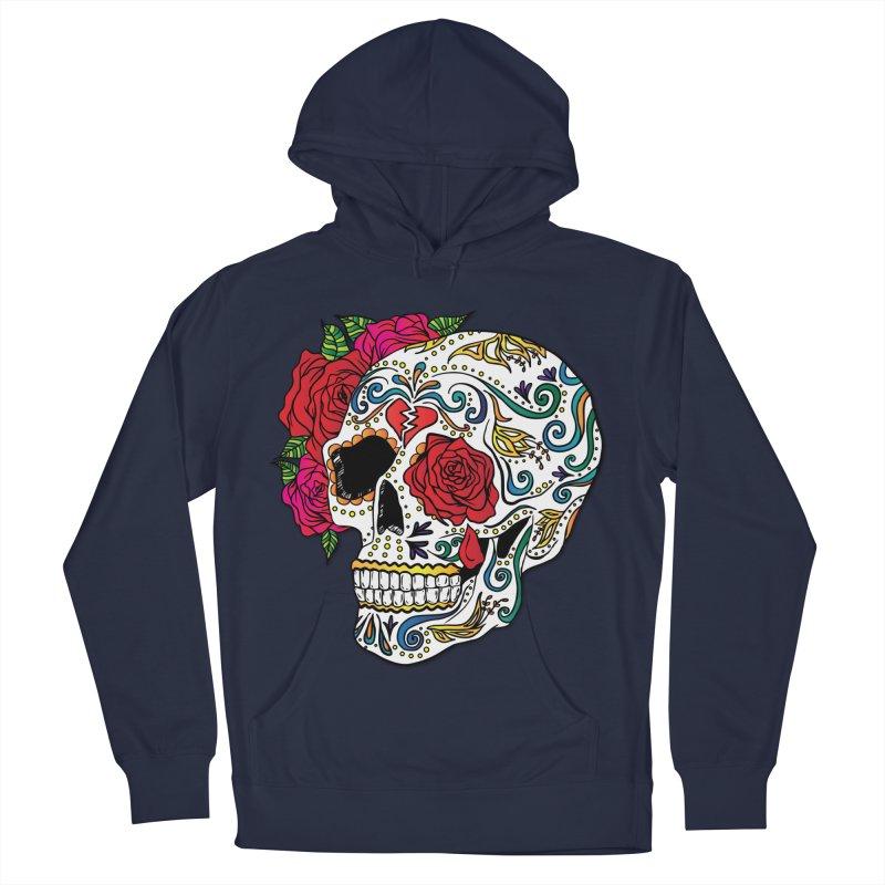 Heartbreak Sugar Skull Men's French Terry Pullover Hoody by Haciendo Designs's Artist Shop