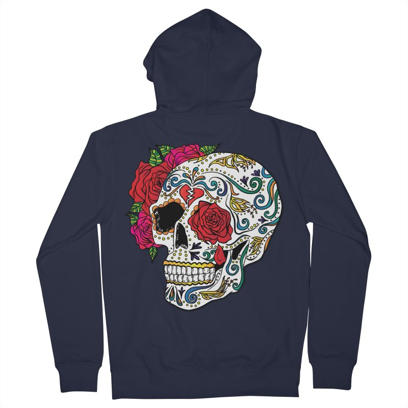 Heartbreak Sugar Skull Women's Zip-Up Hoody by Haciendo Designs's Artist Shop
