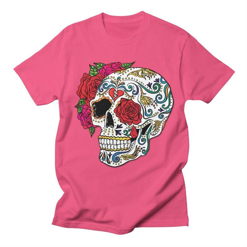 Heartbreak Sugar Skull Women's Unisex T-Shirt by Haciendo Designs's Artist Shop