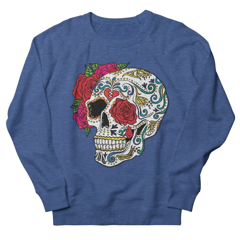 Heartbreak Sugar Skull Women's French Terry Sweatshirt by Haciendo Designs's Artist Shop