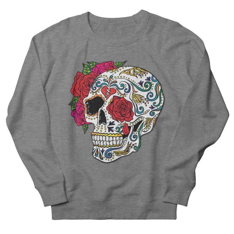 Heartbreak Sugar Skull Women's French Terry Sweatshirt by Haciendo Designs's Artist Shop