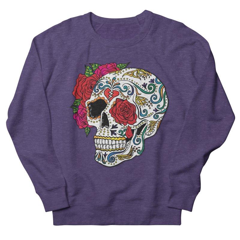 Heartbreak Sugar Skull Men's French Terry Sweatshirt by Haciendo Designs's Artist Shop