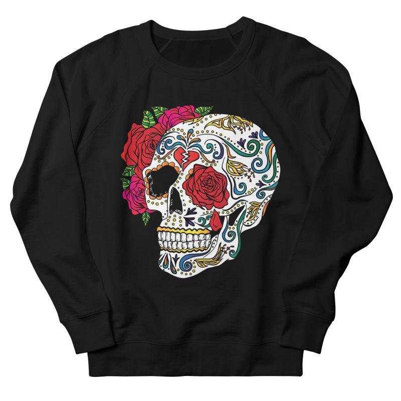 Heartbreak Sugar Skull Men's Sweatshirt by Haciendo Designs's Artist Shop