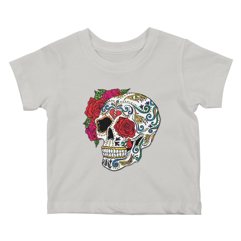 Heartbreak Sugar Skull Kids Baby T-Shirt by Haciendo Designs's Artist Shop