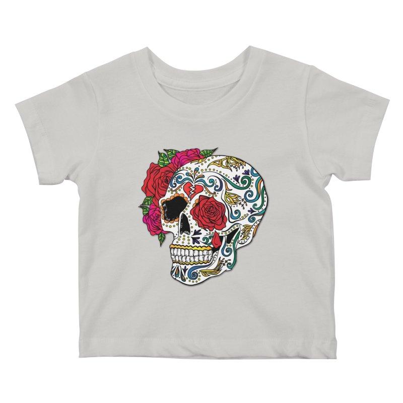 Heartbreak Sugar Skull Kids Baby T-Shirt by Haciendo Designs's Artist Shop