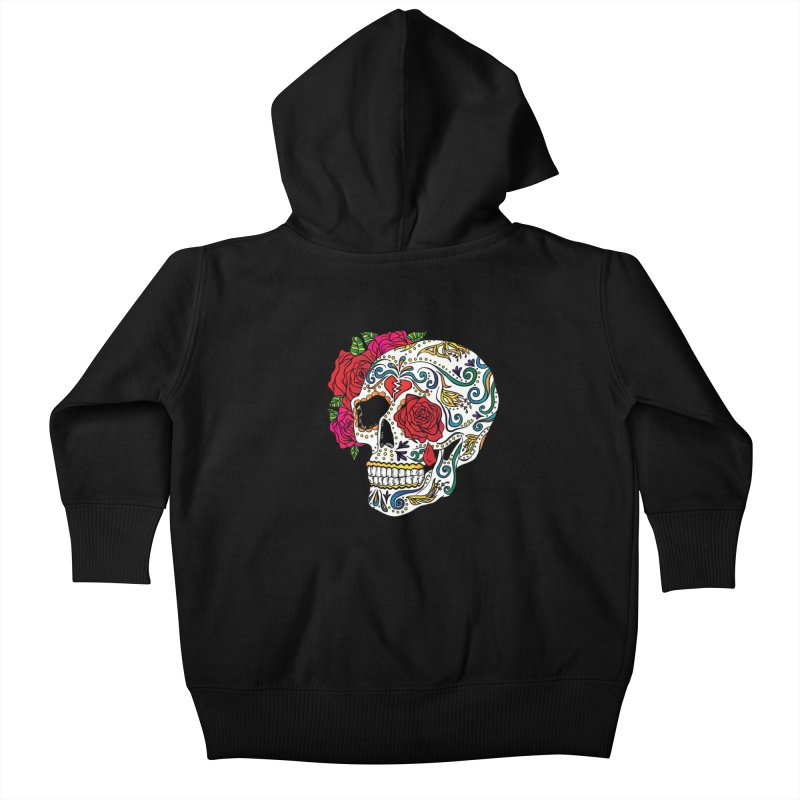 Heartbreak Sugar Skull Kids Baby Zip-Up Hoody by Haciendo Designs's Artist Shop