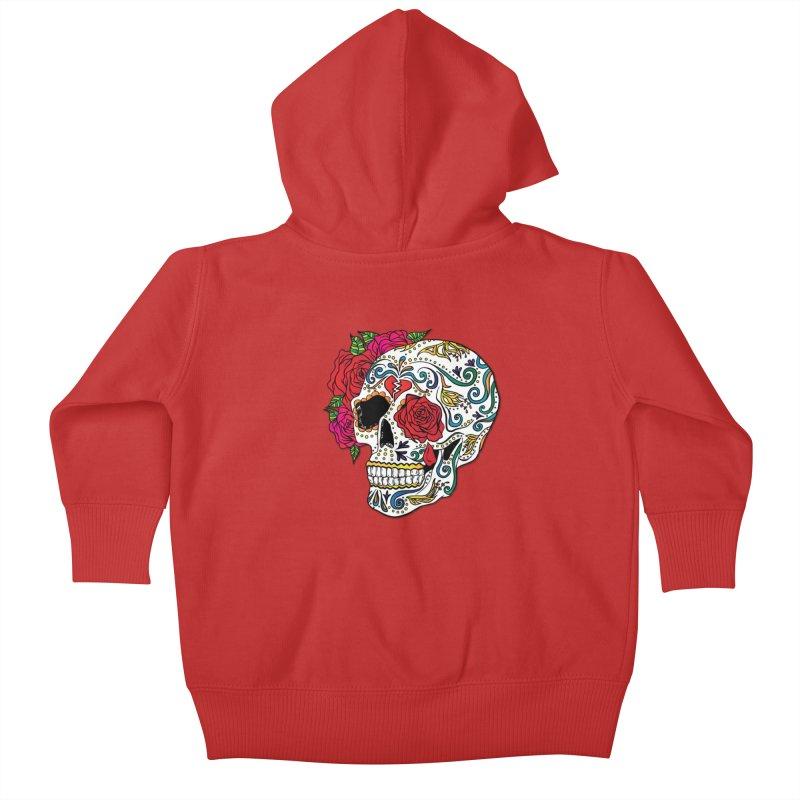 Heartbreak Sugar Skull Kids Baby Zip-Up Hoody by Haciendo Designs's Artist Shop