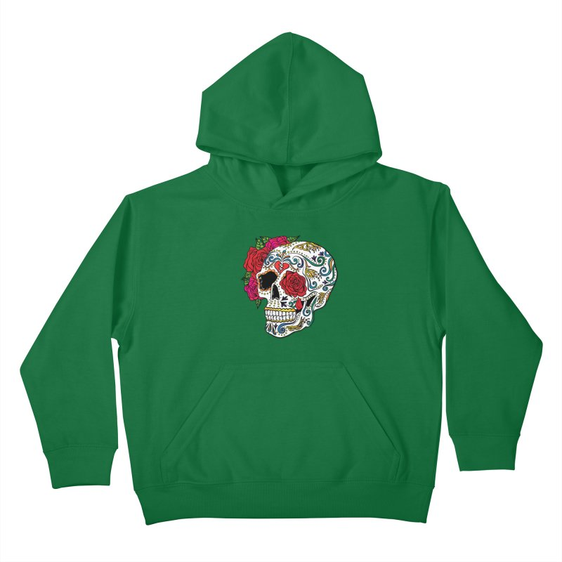 Heartbreak Sugar Skull Kids Pullover Hoody by Haciendo Designs's Artist Shop