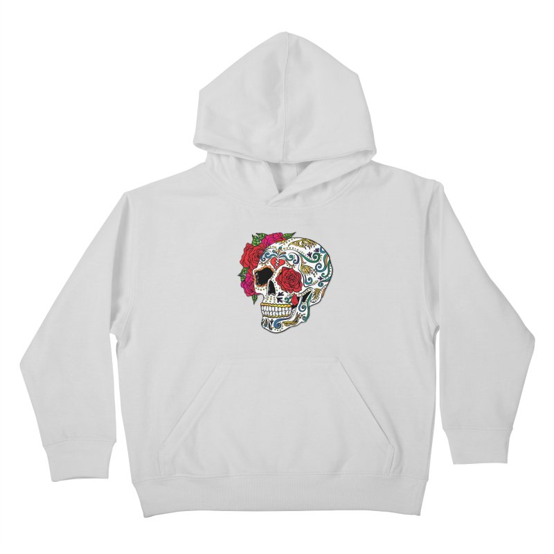 Heartbreak Sugar Skull Kids Pullover Hoody by Haciendo Designs's Artist Shop