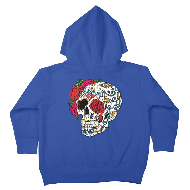 Heartbreak Sugar Skull Kids Toddler Zip-Up Hoody by Haciendo Designs's Artist Shop