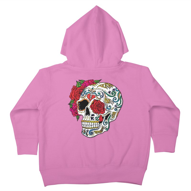 Heartbreak Sugar Skull Kids Toddler Zip-Up Hoody by Haciendo Designs's Artist Shop