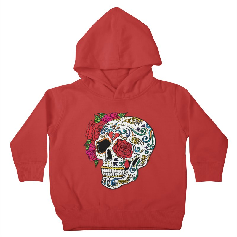 Heartbreak Sugar Skull Kids Toddler Pullover Hoody by Haciendo Designs's Artist Shop