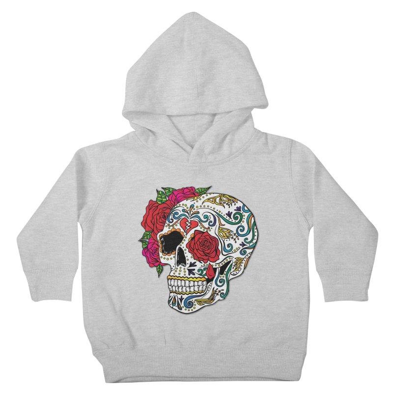 Heartbreak Sugar Skull Kids Toddler Pullover Hoody by Haciendo Designs's Artist Shop