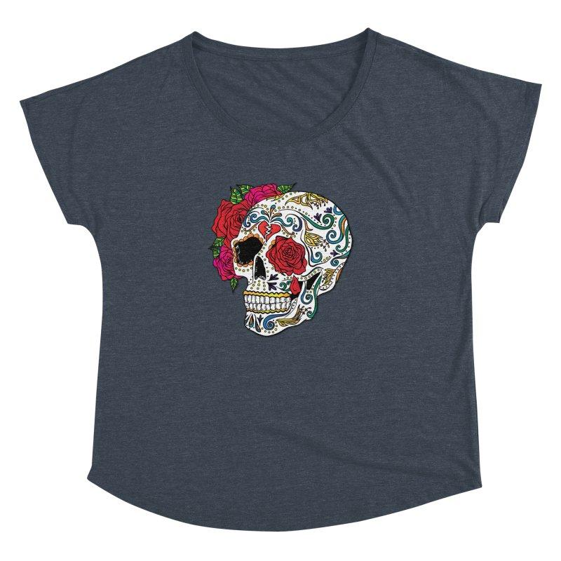 Heartbreak Sugar Skull Women's Dolman by Haciendo Designs's Artist Shop