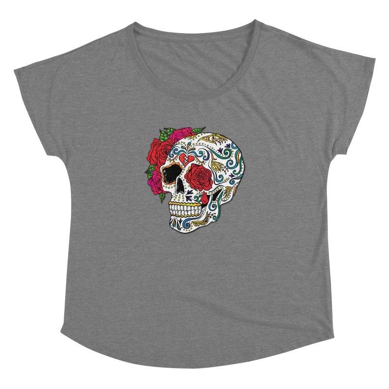 Heartbreak Sugar Skull Women's Dolman Scoop Neck by Haciendo Designs's Artist Shop