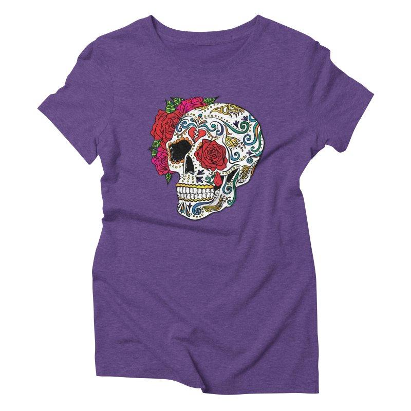 Heartbreak Sugar Skull Women's Triblend T-shirt by Haciendo Designs's Artist Shop