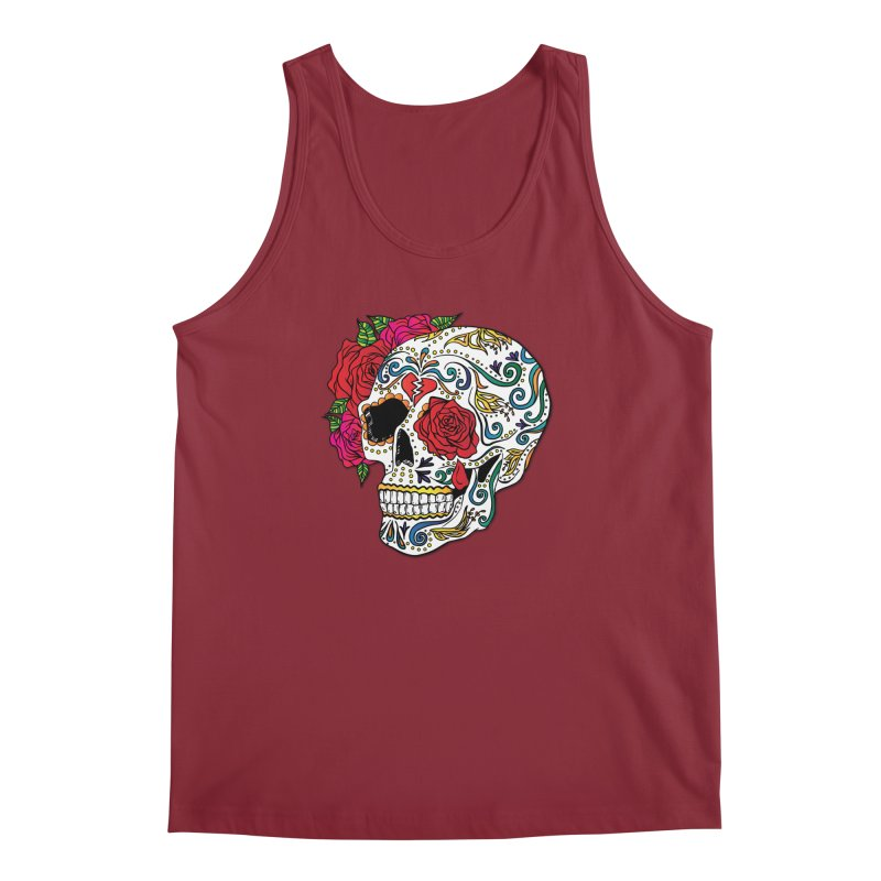 Heartbreak Sugar Skull Men's Regular Tank by Haciendo Designs's Artist Shop