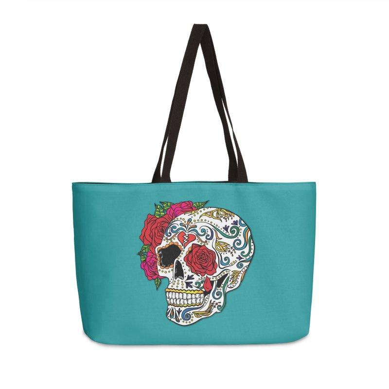 Heartbreak Sugar Skull Accessories Weekender Bag Bag by Haciendo Designs's Artist Shop