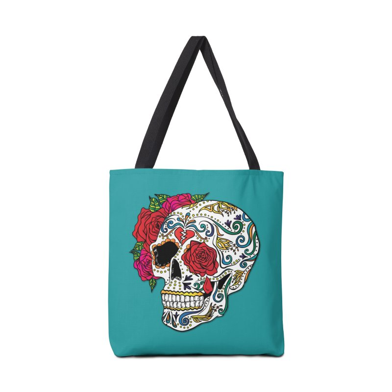 Heartbreak Sugar Skull Accessories Bag by Haciendo Designs's Artist Shop