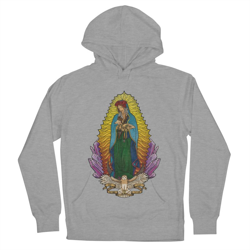 Our Lady Mother Nature Men's French Terry Pullover Hoody by Haciendo Designs's Artist Shop