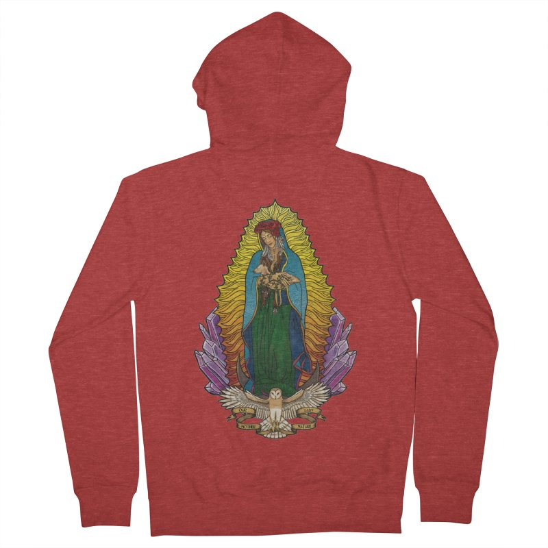 Our Lady Mother Nature Women's French Terry Zip-Up Hoody by Haciendo Designs's Artist Shop