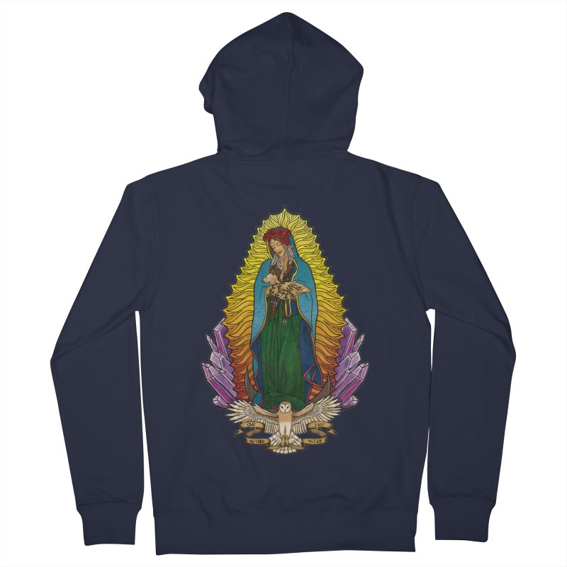 Our Lady Mother Nature Men's Zip-Up Hoody by Haciendo Designs's Artist Shop