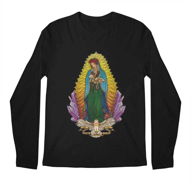 Our Lady Mother Nature Men's Longsleeve T-Shirt by Haciendo Designs's Artist Shop