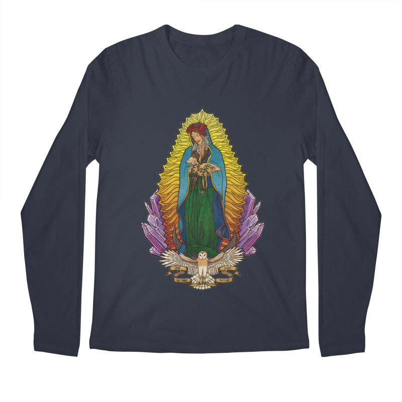 Our Lady Mother Nature Men's Regular Longsleeve T-Shirt by Haciendo Designs's Artist Shop