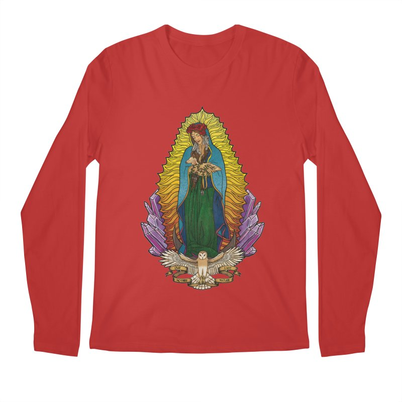Our Lady Mother Nature Men's Longsleeve T-Shirt by Haciendo Designs's Artist Shop