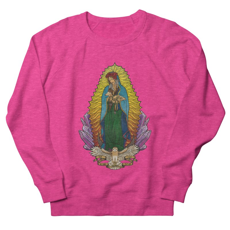 Our Lady Mother Nature Men's French Terry Sweatshirt by Haciendo Designs's Artist Shop