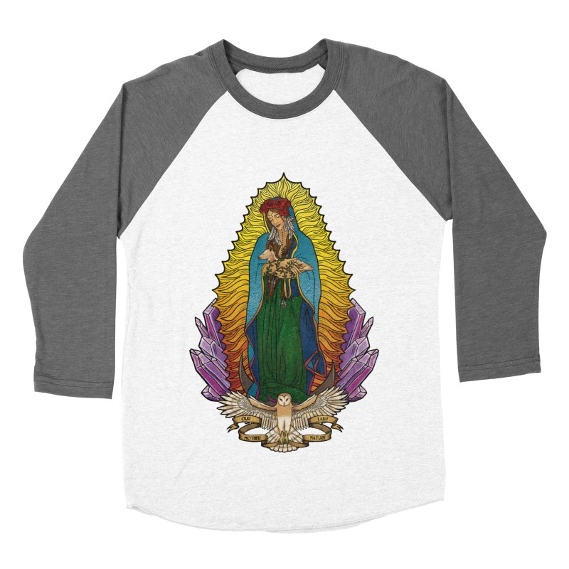 Our Lady Mother Nature Women's Baseball Triblend T-Shirt by Haciendo Designs's Artist Shop