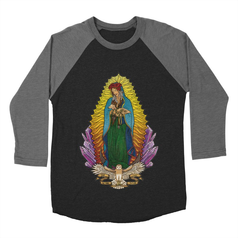 Our Lady Mother Nature Men's Baseball Triblend Longsleeve T-Shirt by Haciendo Designs's Artist Shop