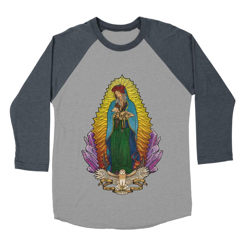 Our Lady Mother Nature Men's Baseball Triblend T-Shirt by Haciendo Designs's Artist Shop