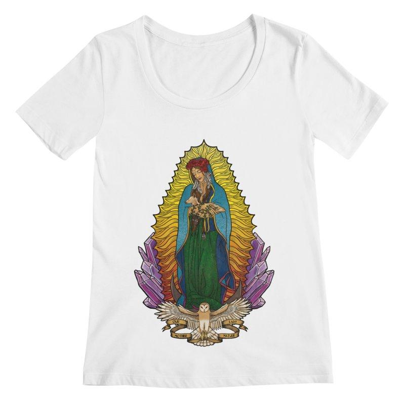 Our Lady Mother Nature Women's Scoopneck by Haciendo Designs's Artist Shop
