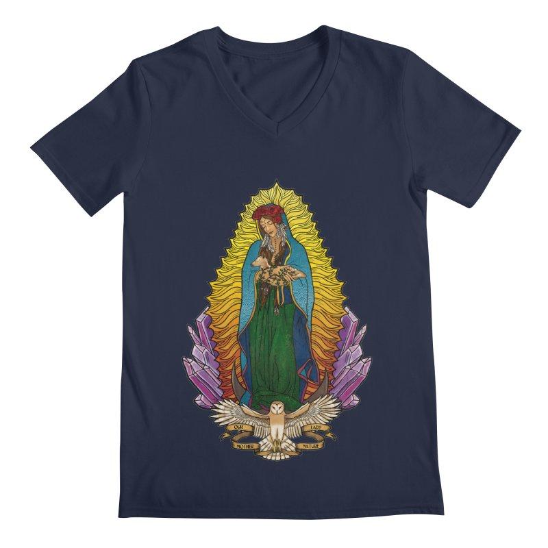 Our Lady Mother Nature Men's V-Neck by Haciendo Designs's Artist Shop