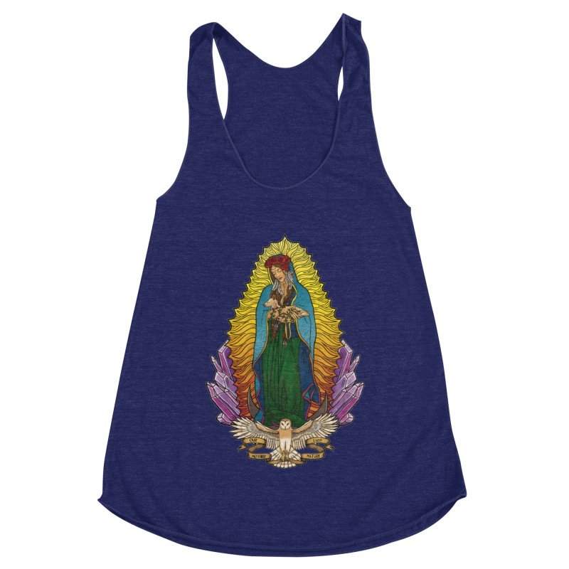 Our Lady Mother Nature Women's Racerback Triblend Tank by Haciendo Designs's Artist Shop