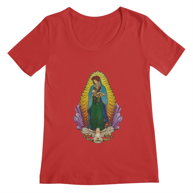 Our Lady Mother Nature Women's Regular Scoop Neck by Haciendo Designs's Artist Shop