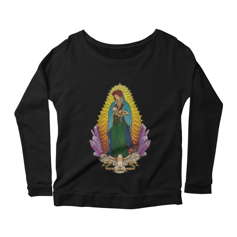 Our Lady Mother Nature Women's Longsleeve Scoopneck  by Haciendo Designs's Artist Shop