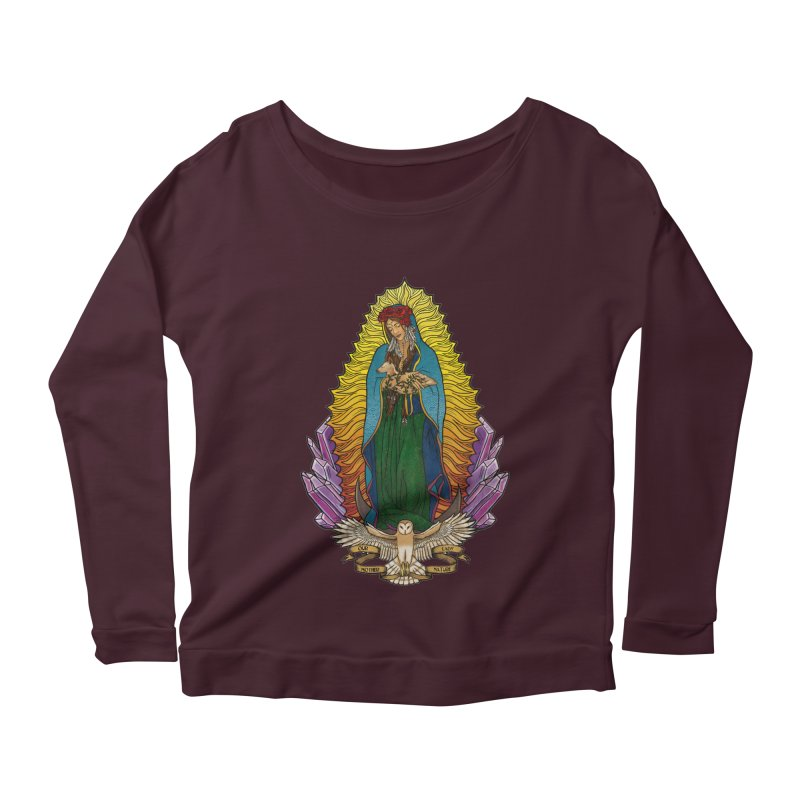 Our Lady Mother Nature Women's Scoop Neck Longsleeve T-Shirt by Haciendo Designs's Artist Shop