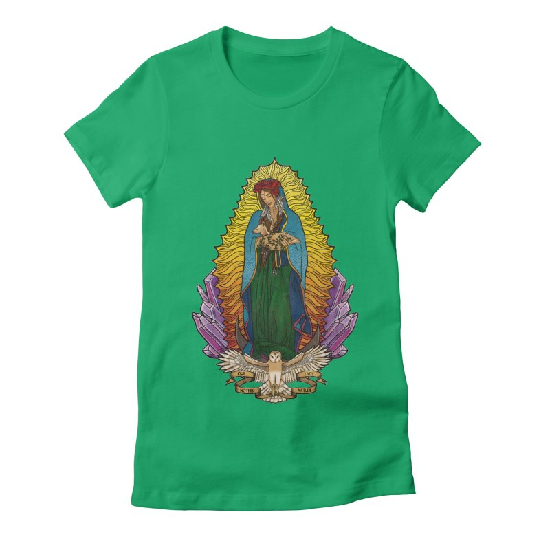 Our Lady Mother Nature Women's Fitted T-Shirt by Haciendo Designs's Artist Shop