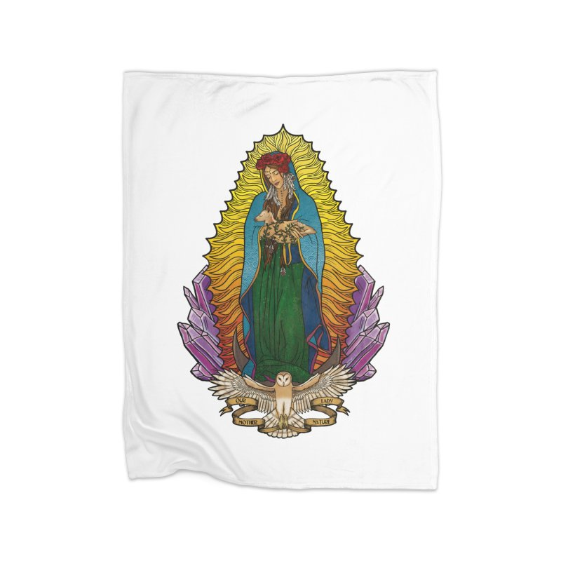 Our Lady Mother Nature Home Fleece Blanket Blanket by Haciendo Designs's Artist Shop