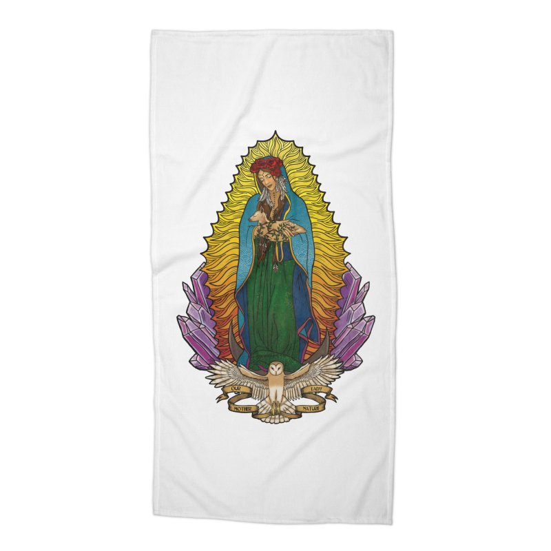 Our Lady Mother Nature Accessories Beach Towel by Haciendo Designs's Artist Shop