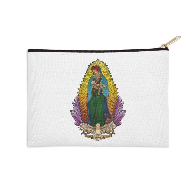 Our Lady Mother Nature Accessories Zip Pouch by Haciendo Designs's Artist Shop