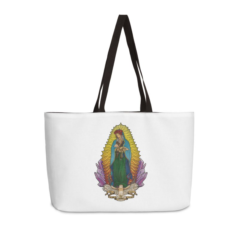 Our Lady Mother Nature Accessories Weekender Bag Bag by Haciendo Designs's Artist Shop