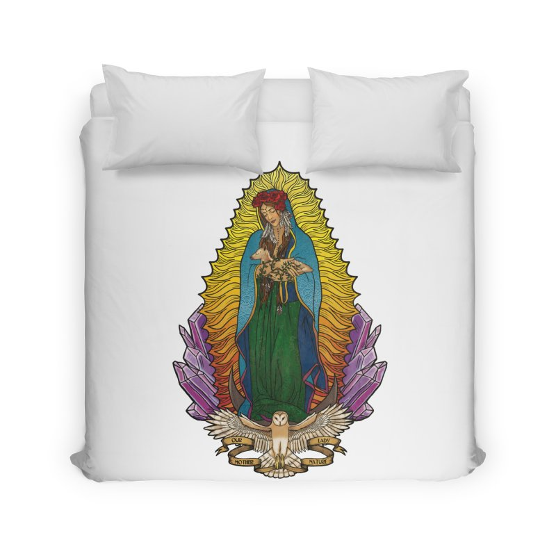 Our Lady Mother Nature Home Duvet by Haciendo Designs's Artist Shop
