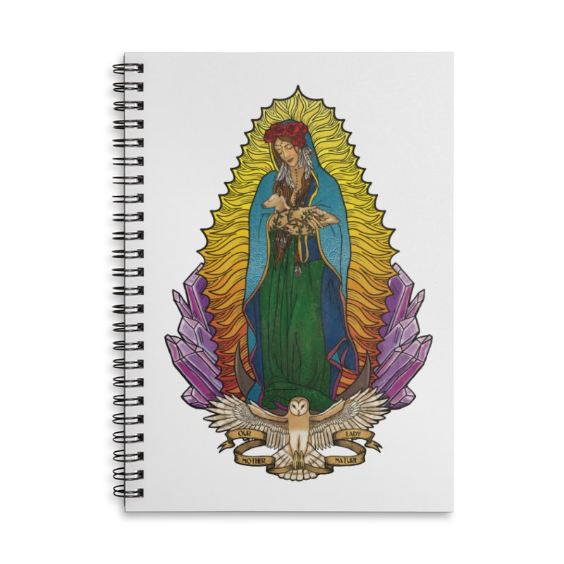 Our Lady Mother Nature Accessories Lined Spiral Notebook by Haciendo Designs's Artist Shop